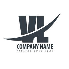 Initial Letter VL Overlapping Logo