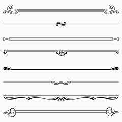 Set of decorative dividers