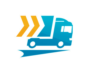 Modern Truck Logistic Delivery Logo - Speedy Cargo