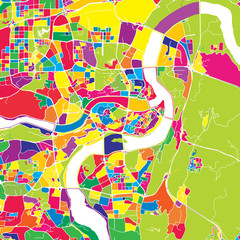 Chongqing, China, colorful vector map