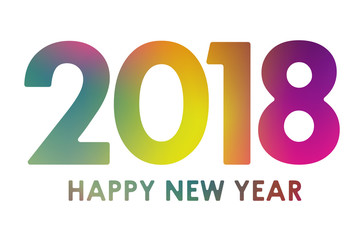 Happy New Year 2018 - colorful banner