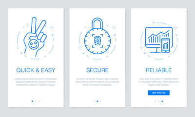 Onboarding app screens 