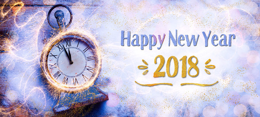 Happy New Year 2018  -  Greeting Card