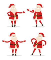Happy Smiling Santa Claus Vector Illustration