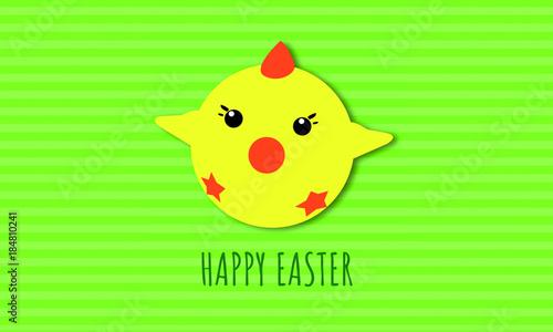 Frohe Ostern Wünscht Das Süße Küken Stock Image And Royalty Free