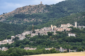 Medieval town of Caporciano (Abruzzi, Italy)