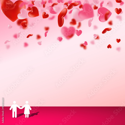 Love valentine\'s background with hearts. Happy Valentines Day ...