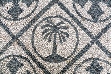 Mosaic floor made with pebbles, Rhodes, Greece
