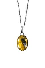 Yellow crystal medallion