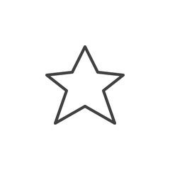 Star, favorite line icon, outline vector sign, linear style pictogram isolated on white. Symbol, logo illustration. Editable stroke