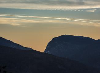 Dramatic Mountain Silhouette: Wallface Mountain, Adirondack High Peaks