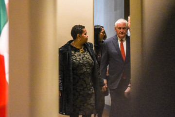 U.S. Secretary of State Rex Tillerson arrives at the United Nations headquarters in New York City