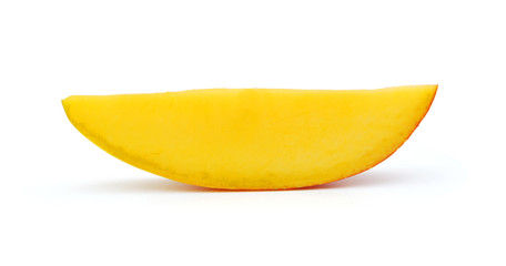 slice of mango, saved with clipping path
