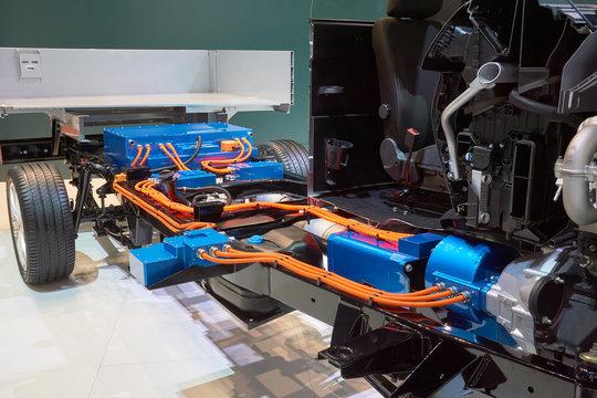 Cutaway of the hybrid truck