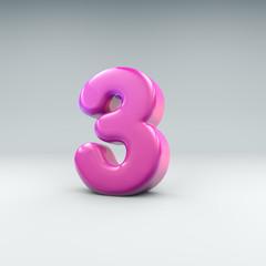 Pink number 3