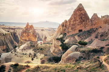 Cappadocia fairy chimney rock formation landscape panorama