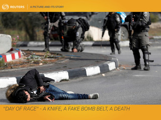 """A Picture and its Story: """"Day of Rage"""" - a knife, a fake bomb belt, a death"""