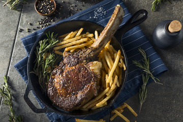 Cooked Grass Fed Tomahawk Steaks