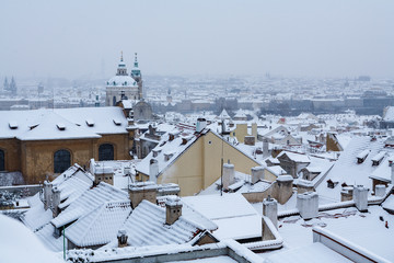 Prague - winter panorama