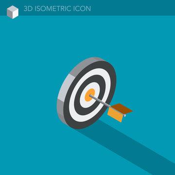 boussole icône 3D isométrique - compass 3D isometric web icon