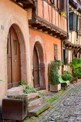 Eguisheim, France - july 23 2016 : historical village in summer