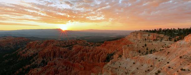 Garden Poster Brown Bryce Canyon Sunrise landscape, Utah, USA.