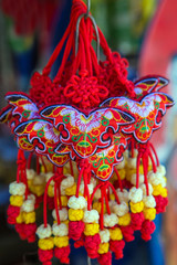 rich chinese butterfly amulet for chinese new year