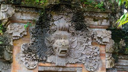 バリ ウブド王宮 獅子 BALI Ubud royal palace guardian lions