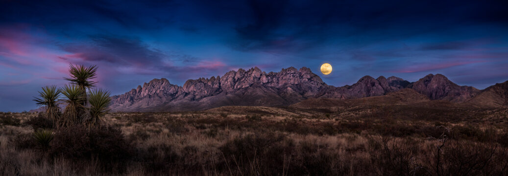 Super Moon Over the Organ Mountains