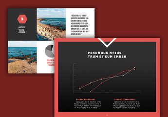 Presentation Layout with Red and Grey Accents