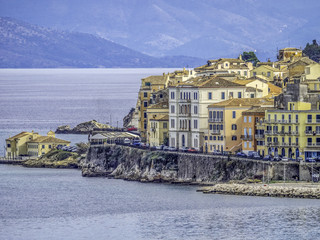 View of Corfu Old Town from the sea