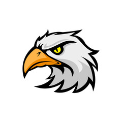 mascot eagle logo design vector illustration