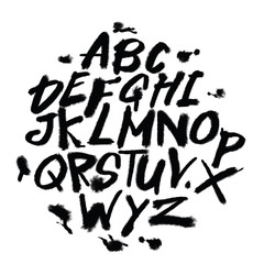 Hand drawn alphabet letters.Marker handwritten font.Isolated letters,Doodle font.vector illustration.