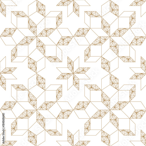gold geometric simple minimalist with japanese vector pattern line