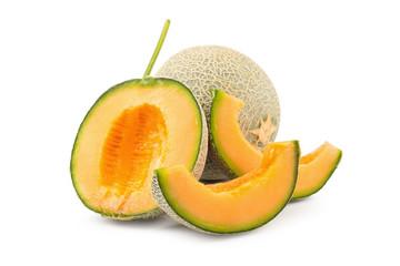Cantaloupe melon isolated on a white background