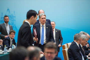 Britain's Chancellor of the Exchequer Philip Hammond attends the UK-China Economic Financial Dialogue at the Diaoyutai State Guesthouse in Beijing