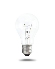 Light bulb isolated on white background with clipping path. Concept idea.
