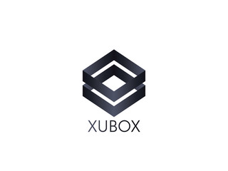 abstract box cube logo icon template. blockchain and technology thing concept symbol.