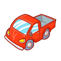 Cool and funny red truck - vector.