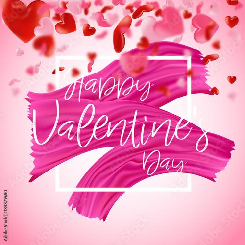 Happy Valentine\'s Day. Love valentine\'s background with hearts ...