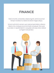 Finance Department Poster Vector Illustration