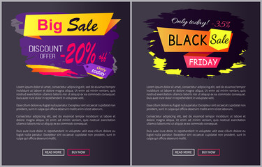 Only Today - 35 off Black Sale Friday Promo Label