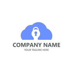 Lock logo template abstract security vector illustration isolated