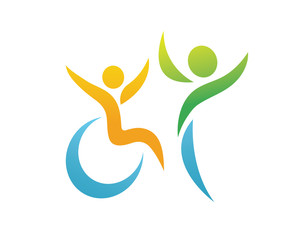 Modern Passionate Disability People Support Logo