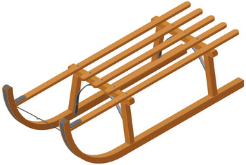 Isometric Wooden Sled