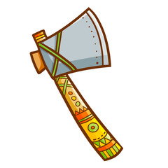 Cute and cool vintage axe - vector.
