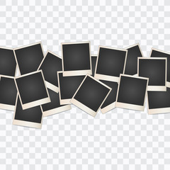 Photo frame Collage on a transparent background. Vector