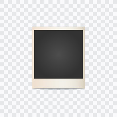 photo frame on a transparent background. Vector