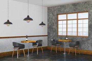 Loft cafe interior side