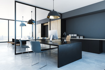 Wall Mural - Dark office interior